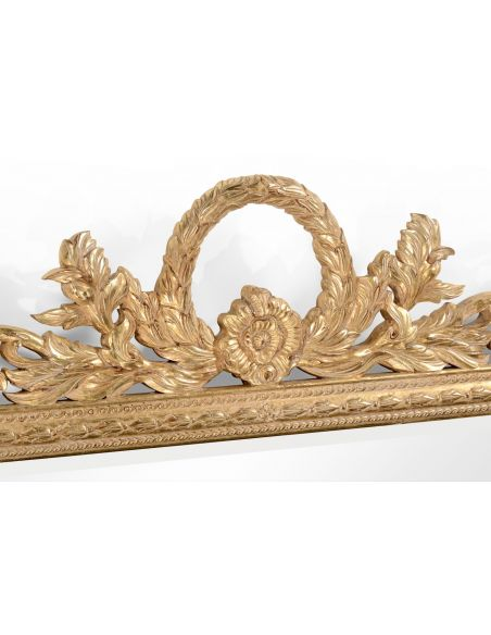 Large Rectangular Gilded Wall Mirror-41
