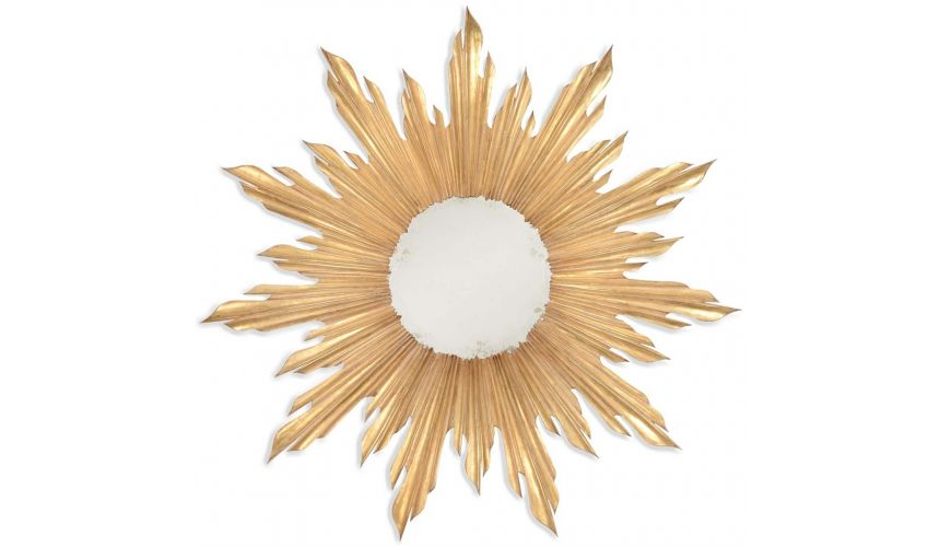Mirrors, Screens, Decrative Pannels Golden sunburst mirror