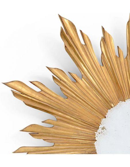 Mirrors, Screens, Decrative Pannels Golden sunburst mirror
