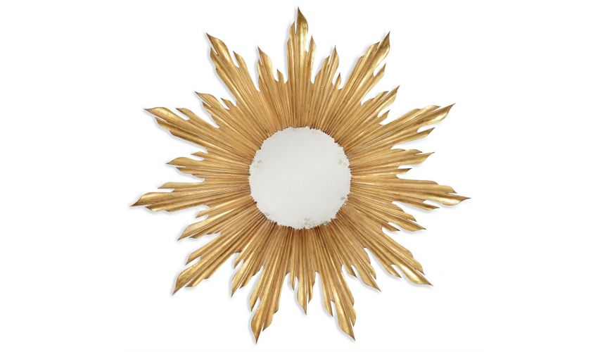 Louis XIV style Gilt Sunburst Mirror-60