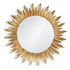 Louis XIV Large Gilt Sunburst Mirror-61