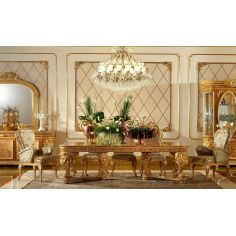 """Elegant dining tablefrom our exclusive """"Home of the Czar Collection"""""""