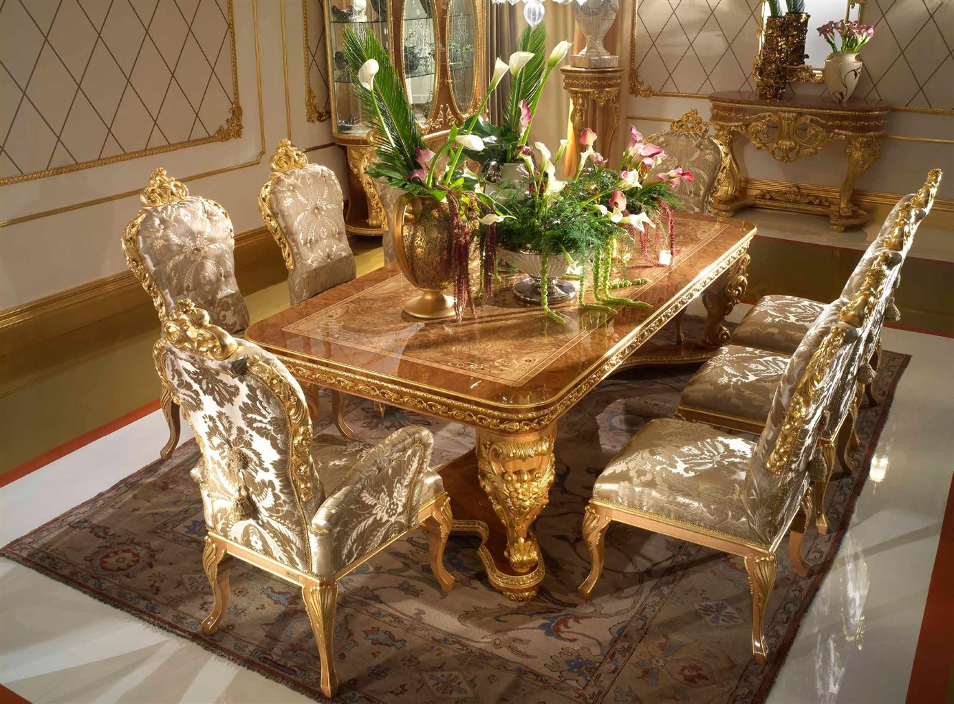 Elegant dining tablefrom our exclusive home of the czar for Elegant dining table