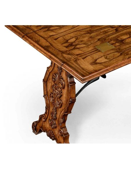 Distressed Walnut Wood Hunt Table-74