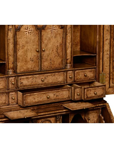 Foyer and Center Tables Classic Multi Drawer Wooden Bureau Cabinet-79