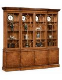 Large Breakfronted Triple Display or Bookcase-13