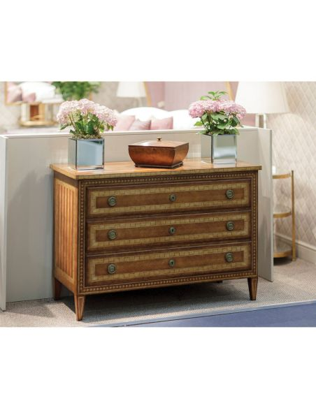 Large Three Drawer Satinwood Furniture-14