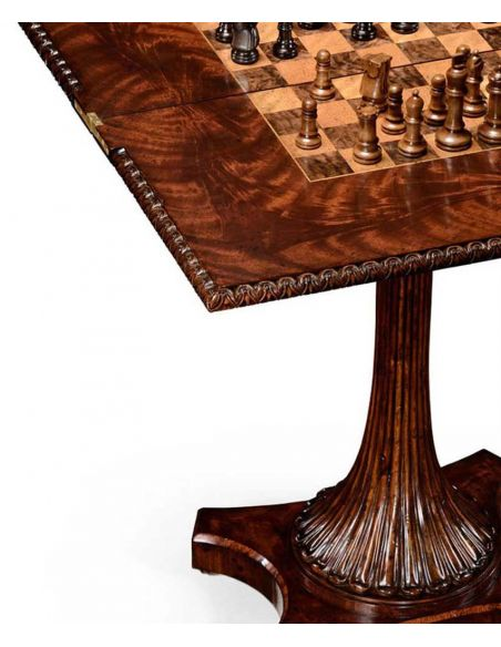 Square & Rectangular Side Tables Finely Carved Mahogany Side Table-15