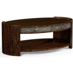 Art Deco Styled Oval Coffee Table-18