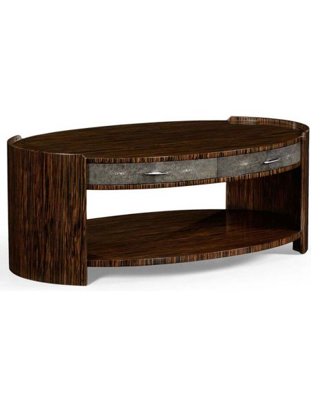Round and Oval Coffee tables Art Deco Styled Oval Coffee Table-18