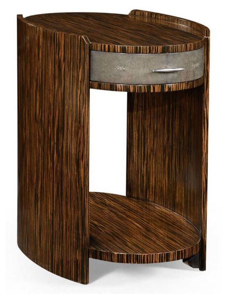 Round & Oval Side Tables Oval Side Table in Art Deco Styled-19