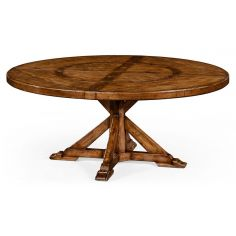Circular Dining Table with a Rustic Finish Showing Exposed-29