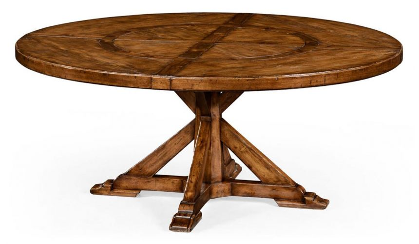 Dining Tables Circular Dining Table with a Rustic Finish Showing Exposed-29