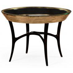 Circular Black Lacquer and Gilt Center Table-31