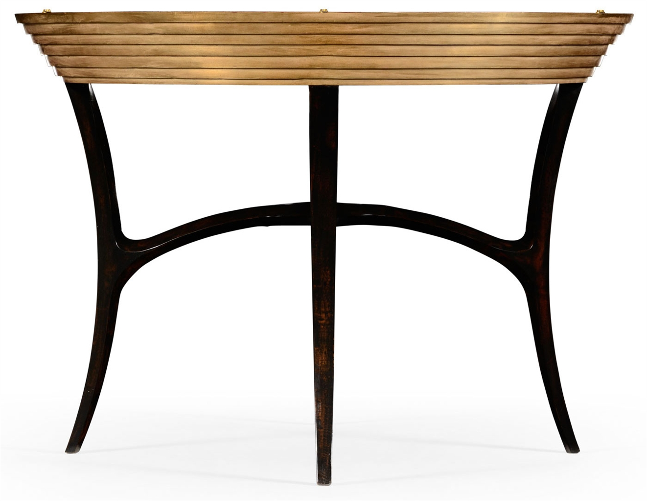 Circular black lacquer and gilt center table 31 for Html table center
