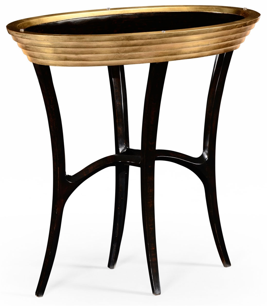 Oval black lacquer and gilt side table 54 for Black side table