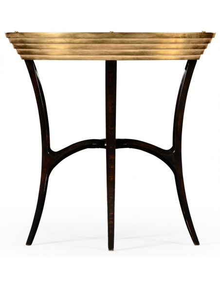 Round & Oval Side Tables Oval black Lacquer and Gilt Side Table-54