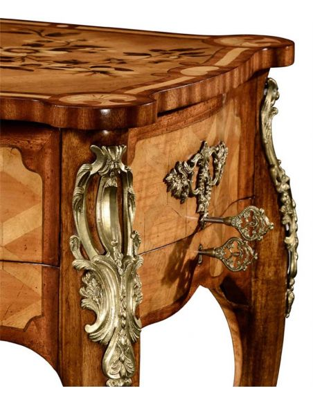 Executive Desks Marquetry Satinwood Dressing or Writing Table-55