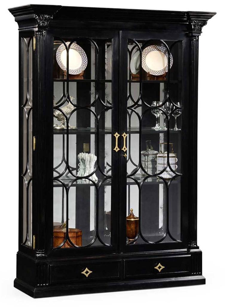 anastasia luxury italian sofa. Large Black Painted Glass Door Display Cabinet-56 Anastasia Luxury Italian Sofa