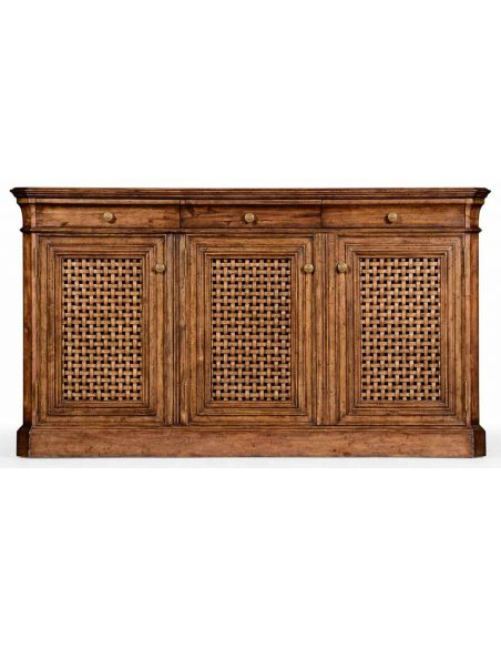 Light Walnut Dresser Base or Sideboard-64