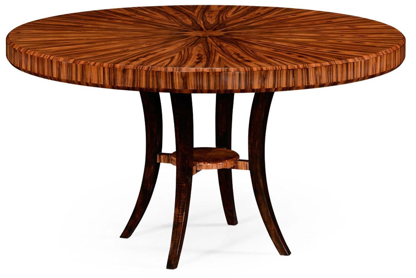 Art deco style round dining table for Stylish round dining table