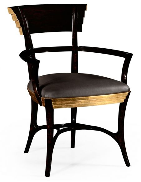 Dining Chairs Gilt Armchair for Living Room-82