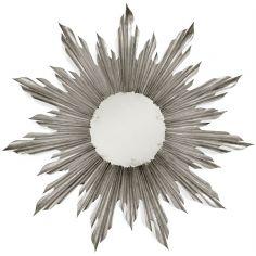 Louis XIV style Silver sunburst mirror