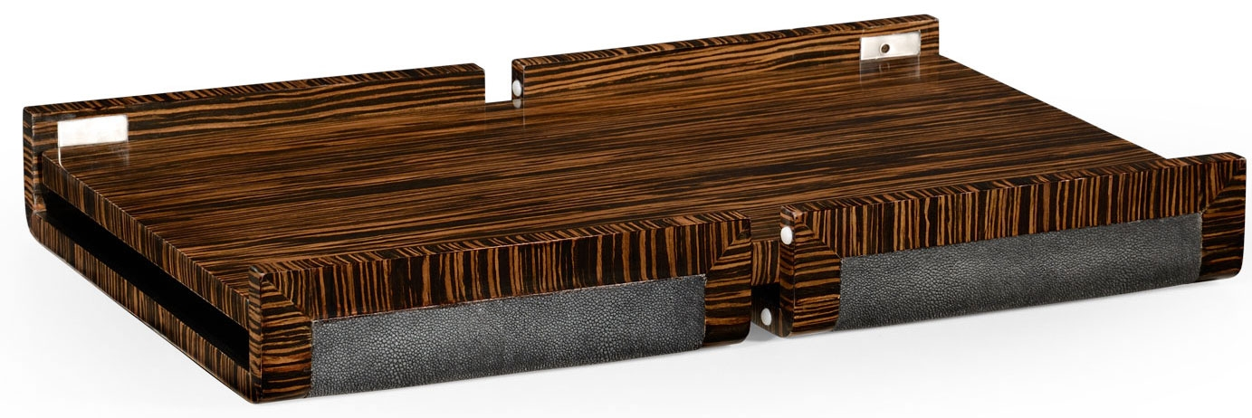 Superior Other Home Accessories Faux Macassar Ebony, Anthracite Shagreen Bed Tray.