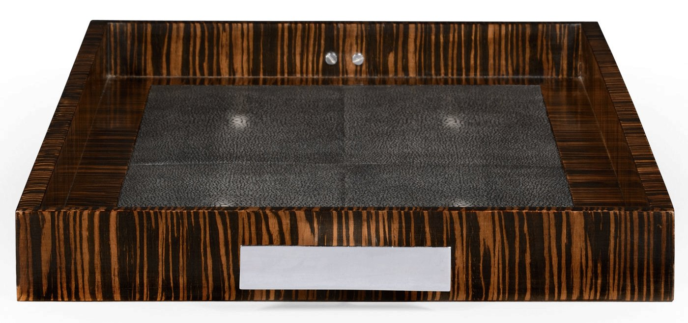 Square U0026 Rectangular Side Tables Faux Macassar Ebony U0026 Black Shagreen ...