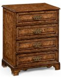 Burr oak chest of drawers.