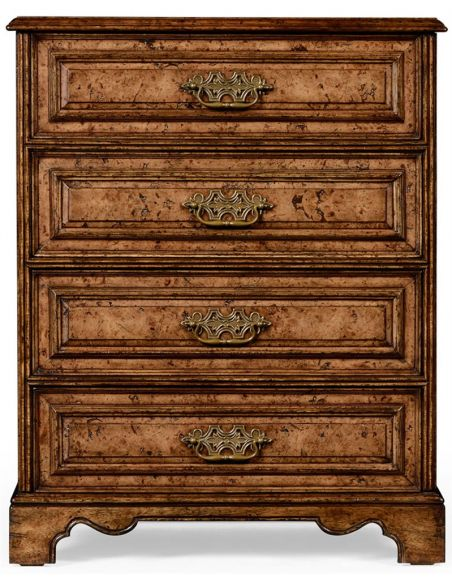 Chest of Drawers Burr oak chest of drawers.