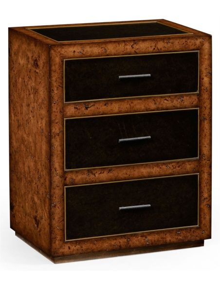 Square & Rectangular Side Tables Contemporary Styled Oak Chest of 3 Drawers-45