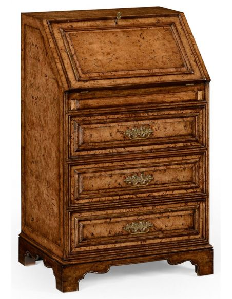 Foyer and Center Tables George II style Oak Fall Front Bureau-49