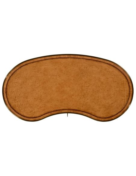 LUXURY BEDROOM FURNITURE Satinwood kidney dressing table.