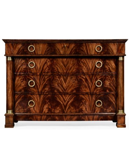 LUXURY BEDROOM FURNITURE Mahogany biedermeier low chest