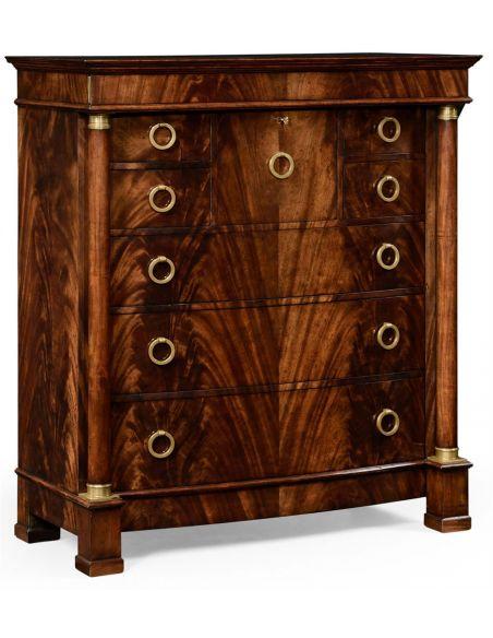 LUXURY BEDROOM FURNITURE Mahogany biedermeier high chest