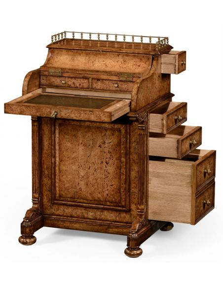 Foyer and Center Tables William IV style Oak Davenport desk-58