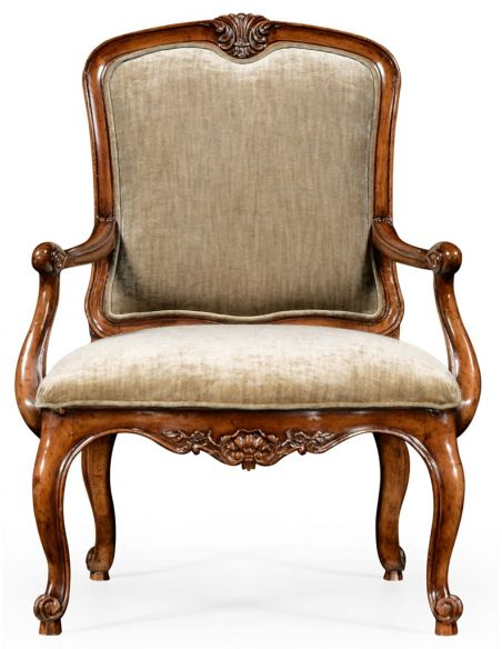 Square & Rectangular Side Tables French Provincial style Antique Armchair-63