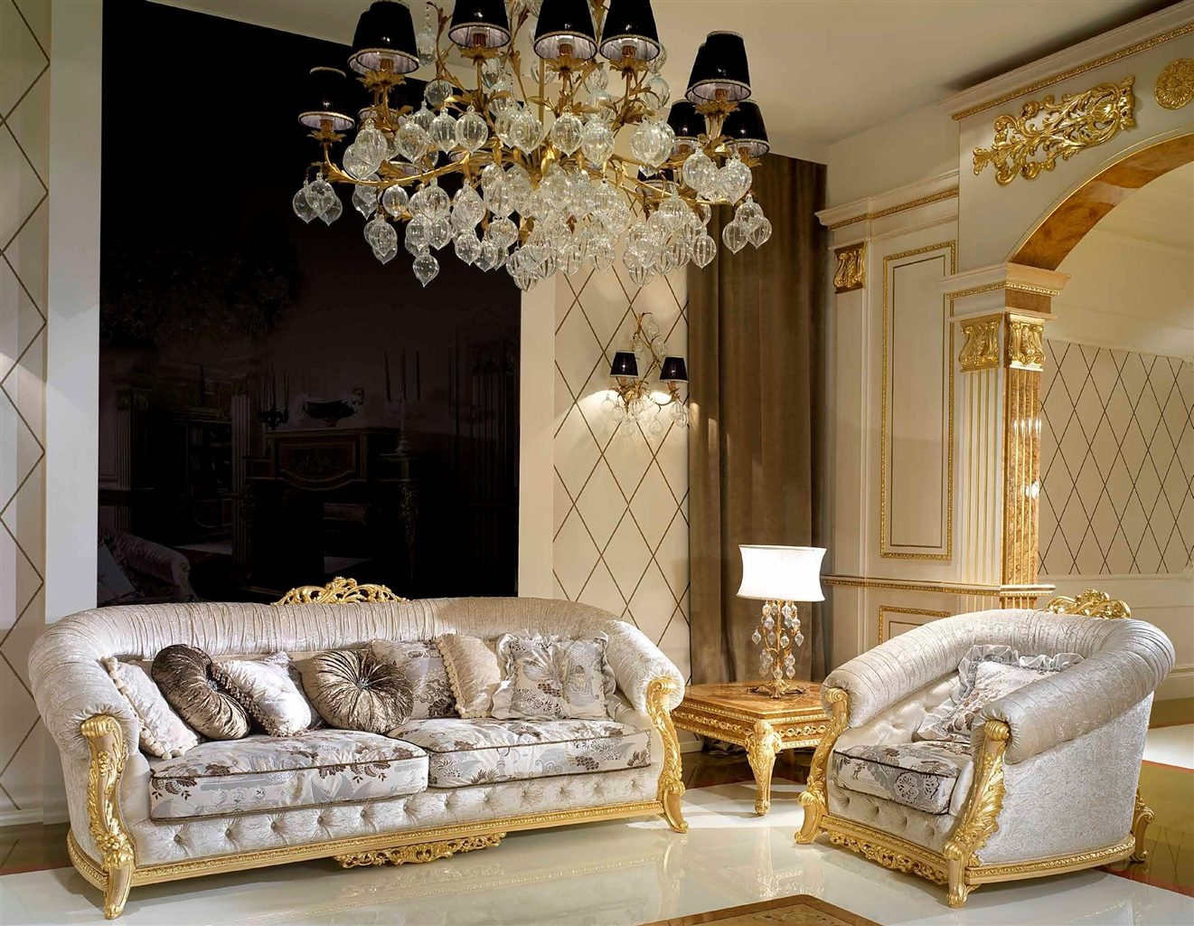 SOFA, COUCH U0026 LOVESEAT Elegant Living Room Set From Our Modern Day Czar  Collection