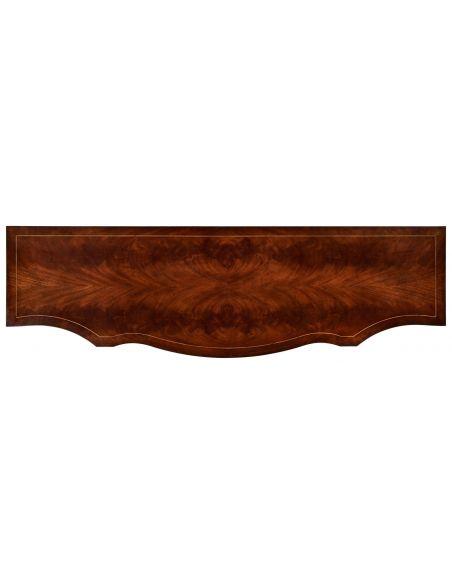 Regency Bow Front Serpentine Sideboard-64