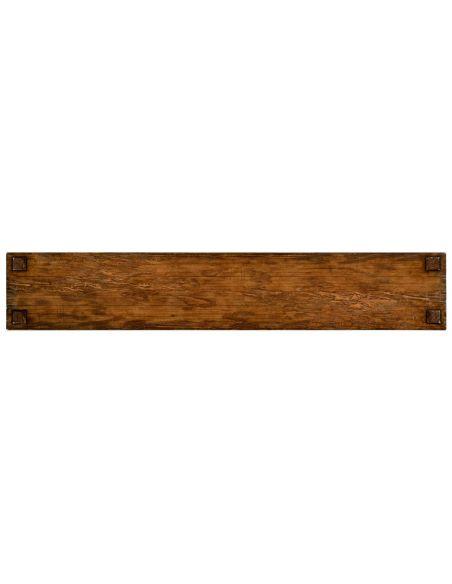 Rectangular Walnut Narrow Console Table-75