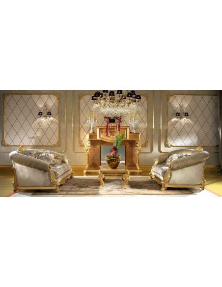 SOFA, COUCH & LOVESEAT Elegant living room set from our modern day Czar collection