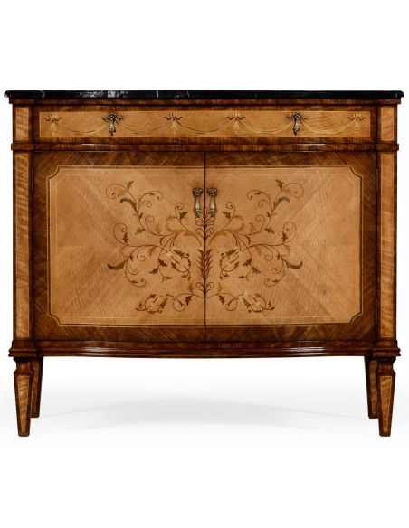 Bow Fronted Side Cabinet-93