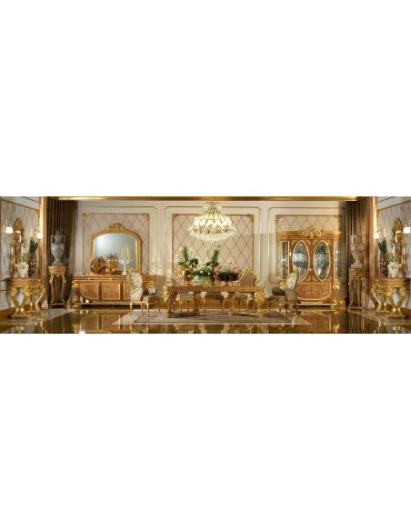 Furniture Masterpieces Elegant tall pedestal display from our modern day Czar collection