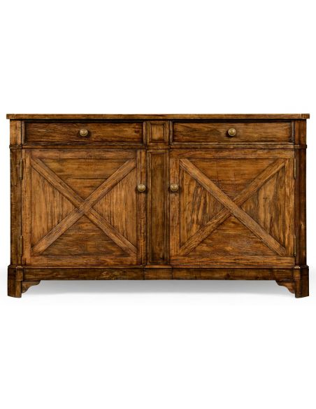 Country Living Style Sideboard with Double Cupboards-71