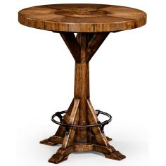 Country living style walnut bar table