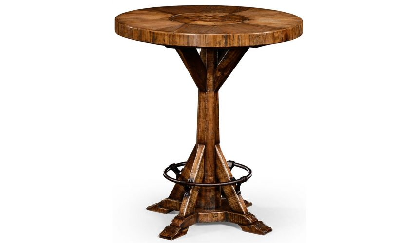 Home Bar Furniture Country living style walnut bar table