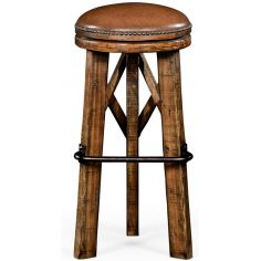 Country Living Style Round Bar Stool-73