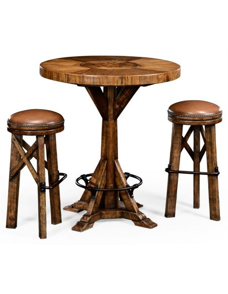 Square & Rectangular Side Tables Country Living Style Round Bar Stool-73