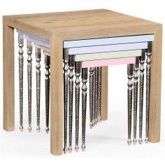 Alexander Julian Oak Nesting Tables-80